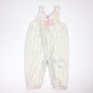 Vintage Carter's Pastel Striped Overall Jumpsuit